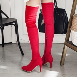 Ericdress Fashion Pointed Toe Stiletto Heel Thigh High Boots