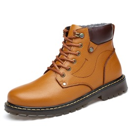 Ericdress Warm Large Size Plain Men's Martin Boots