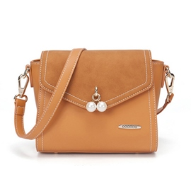 Ericdress Solid Color Pearl Decoration Crossbody Bag