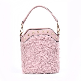Ericdress Bucket Shape Rivet Decoration Crossbody Bag