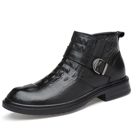Ericdress Fashion Buckle Slip-On Plain Men's Boots