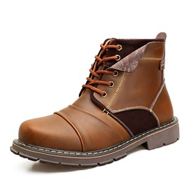 Ericdress All Match Patchwork Plain Men's Martin Boots