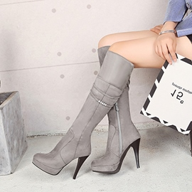 Ericdress Chain Platform Winter Women's Knee High Boots