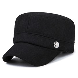Ericdress Trendy Solid Color Thicken Men's Peaked Cap