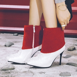 Ericdress Lace Color Block Patchwork High Heel Boots