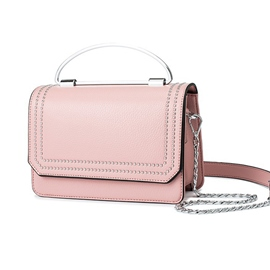 Ericdress Concise Solid Color Chain Crossbody Bag