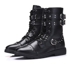 Ericdress Cool Rivet Mid-Calf Men's Boots with Buckle