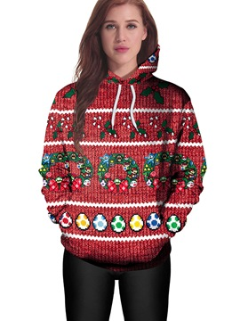 Ericdress Christmas Bell Loose Cool Hoodie