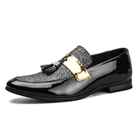 Ericdress franja británica slip-on oxfords para hombres