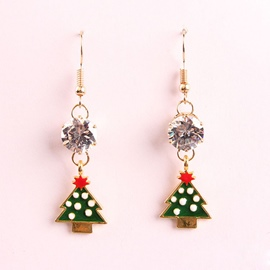 Ericdress Christmas Tree Pendant Women's Earring