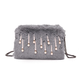 Ericdress Korean Style Pearl Decoration Plush Crossbody Bag