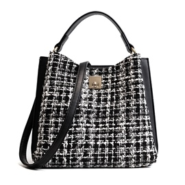 Ericdress Korean Style Plaid Woolen Shoulder Bag