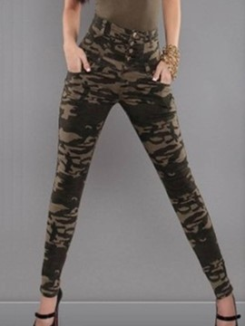 Ericdress Camouflage Slim High-Waist Women's Pencil Pants