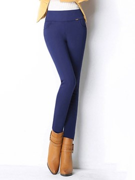 Ericdress Thick Slim High-Waist Plain Women's Leggings