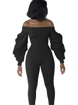 Ericdress Slim Backless Off Shoulder Women's Jumpsuit