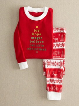 Ericdress Christmas Pullover and Print Pants Women's Suit