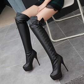 Ericdress Fashion Lace-Up Platform Knee High Boots