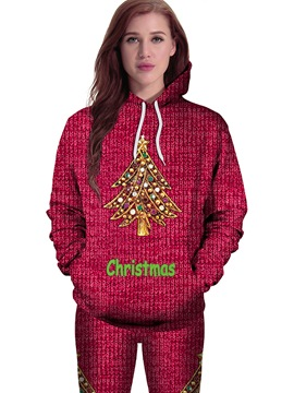 Ericdress Christmas Tree Loose Cool Hoodie