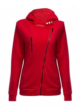 Ericdress Slim Zipper Plain Cardigan Cool Hoodie