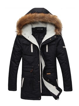 Ericdress Thicken Warm Mid-Length Men's Winter Coat