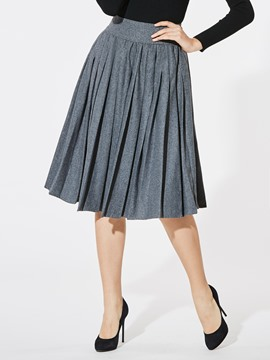 Ericdress Pleated Plain Women's Skirt