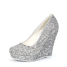 Ericdress Glitterring Slip-On Plain Wedges