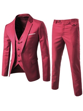 Ericdress Plain Three-Piece of Casual Slim Men's Suit