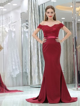 Ericdress Mermaid Off The Shoulder Appliques Bridesmaid Dress