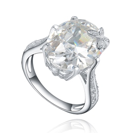 MarkChic Creative Design White Sapphire Created Wedding Ring