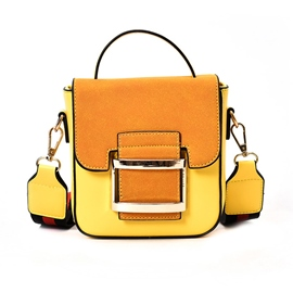 Ericdress Vintage Color Block Matting Crossbody Bag