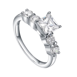 MarkChic White Sapphire Created Women's Wedding Ring