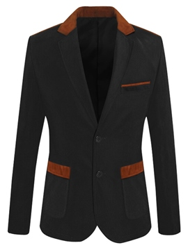 Ericdress Plain Notched Lapel Single-Breasted Casual Slim Men's Blazer