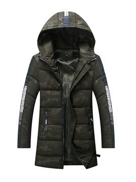 Ericdress Camouflage Hooded Vogue Slim Men's Winter Coat