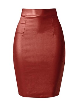 Ericdress High-Waist Bodycon Knee-Length Women's Skirt