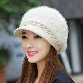 Ericdress Ladylike Pure Color Thicken Warm Knitting Women's Hat
