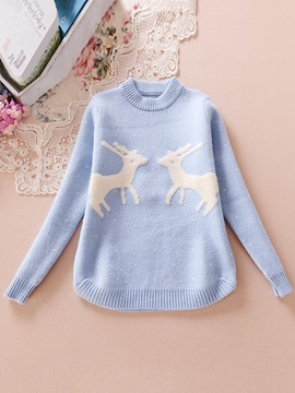 Ericdress Lovely Korean Giraffe Print Sweater