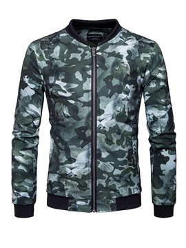 Ericdress Camouflage Print Stand Collar Casual Slim Men's Jacket