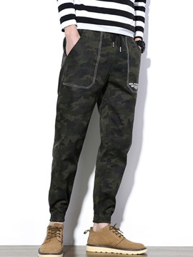Ericdress Camouflage Lace-Up Casual Slim Men's Pants