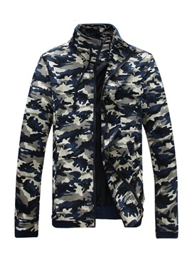 Ericdress Stand Collar Camouflage Men's Jacket