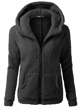 Ericdress Loose Plain Cardigan Zipper Cool Hoodie