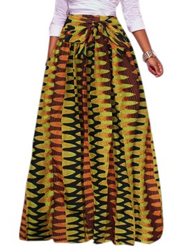 Ericdress Expansion Floor-Length Print Women's Long Skirt