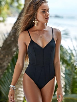 Ericdress V-Neck Spaghetti Strap Backless Monokini