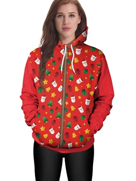 Ericdress Christmas Santa Claus Loose Cool Hoodie