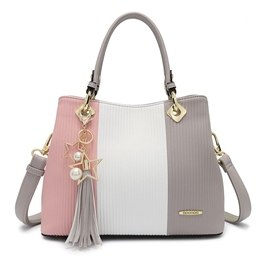 Ericdress Color Block Stripe Women Handbag