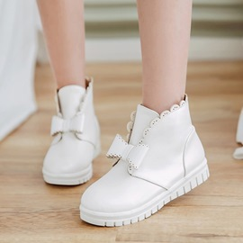 Ericdress Bowknot Decorated Slip-On Ankle Boots
