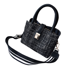 Ericdress Wide Strap Woolen Cloth Women Handbag