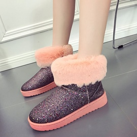 Ericdress Fuzzy Plain Slip-On Snow Boots