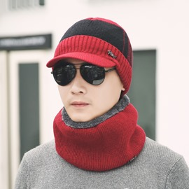 Ericdress Outdoor Knitting Thicken Warm Men's Hat