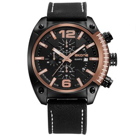 Ericdress Unique Design Calendar Waterproof Quartz Watch for Men