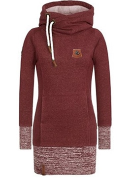 Ericdress Slim Mid-Length Patchwork Cool Hoodie